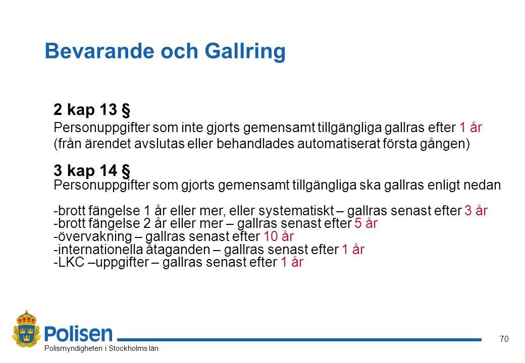 Bevarande och Gallring