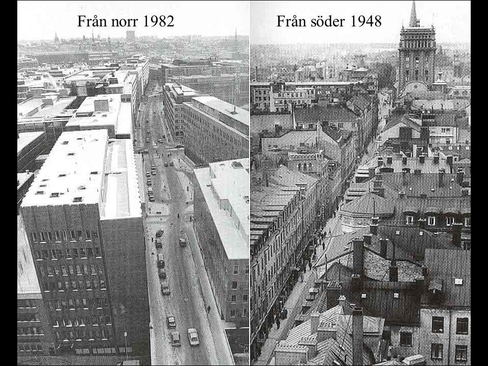 Från norr & söder 82 resp. 48 Mot norr 1948 Från norr 1982