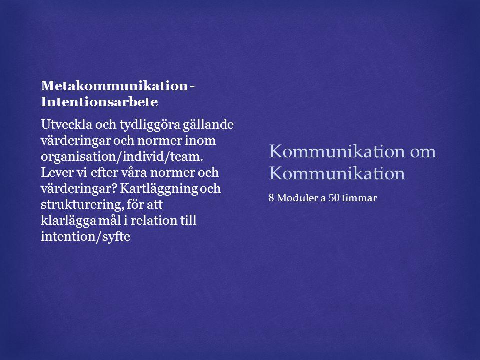 Kommunikation om Kommunikation