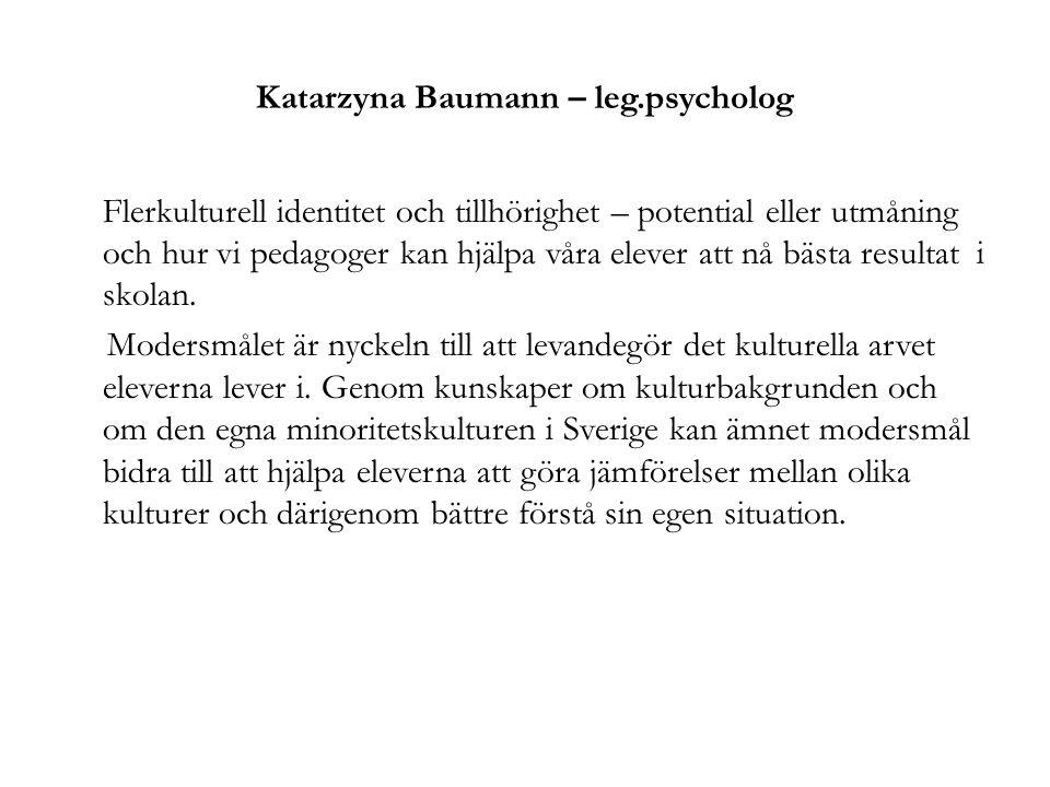 Katarzyna Baumann – leg.psycholog