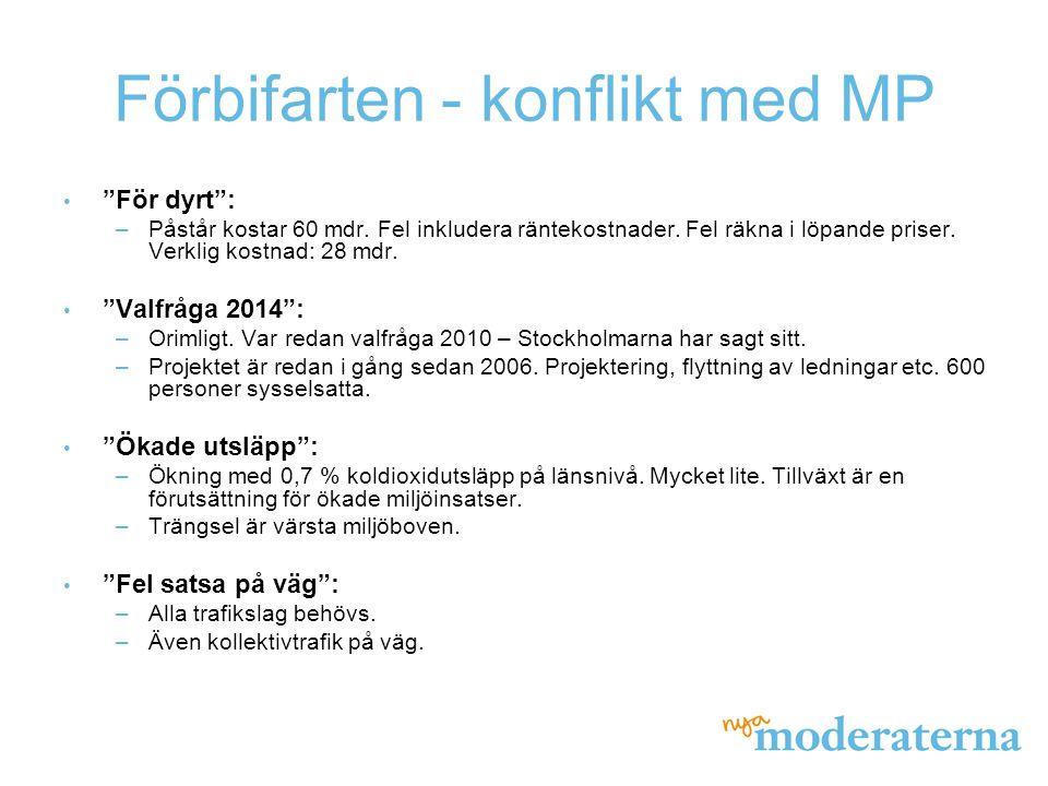 Förbifarten - konflikt med MP