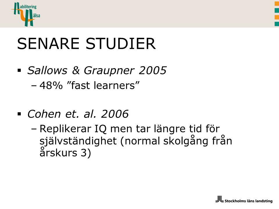 SENARE STUDIER Sallows & Graupner 2005 Cohen et. al. 2006