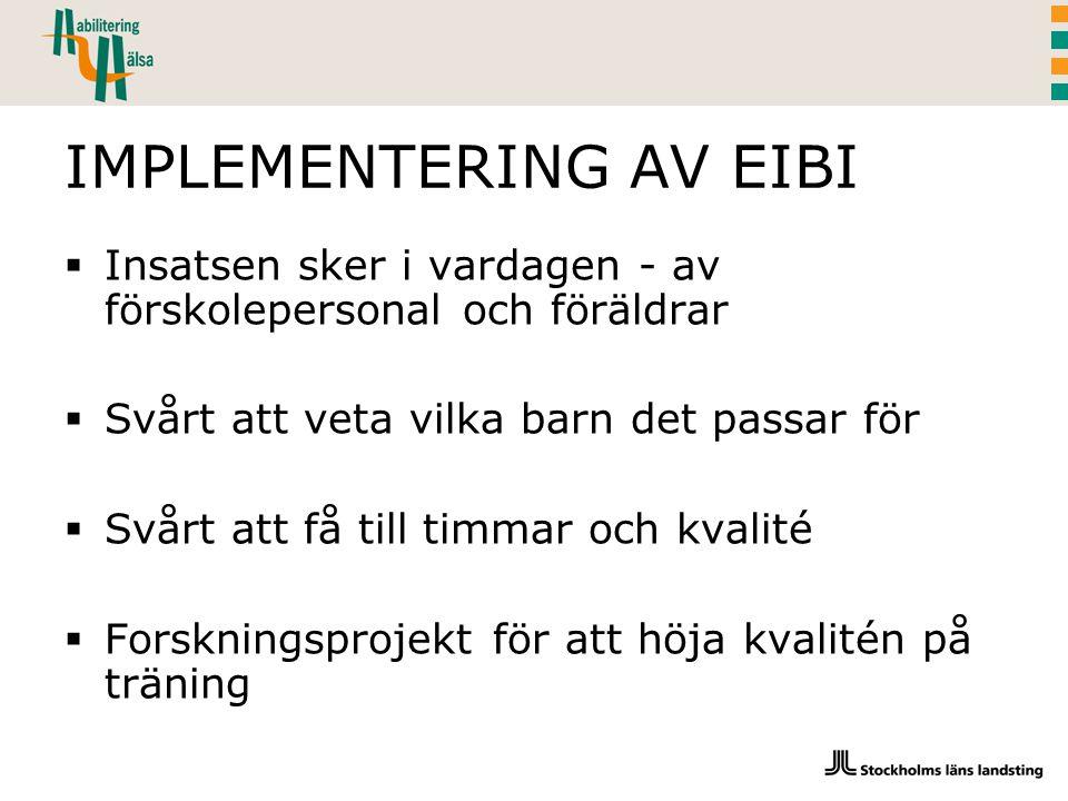 IMPLEMENTERING AV EIBI
