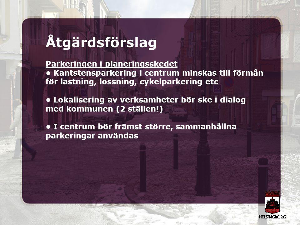 Åtgärdsförslag Parkeringen i planeringsskedet