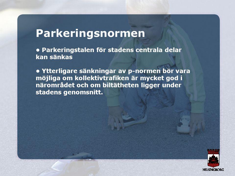 Parkeringsnormen • Parkeringstalen för stadens centrala delar