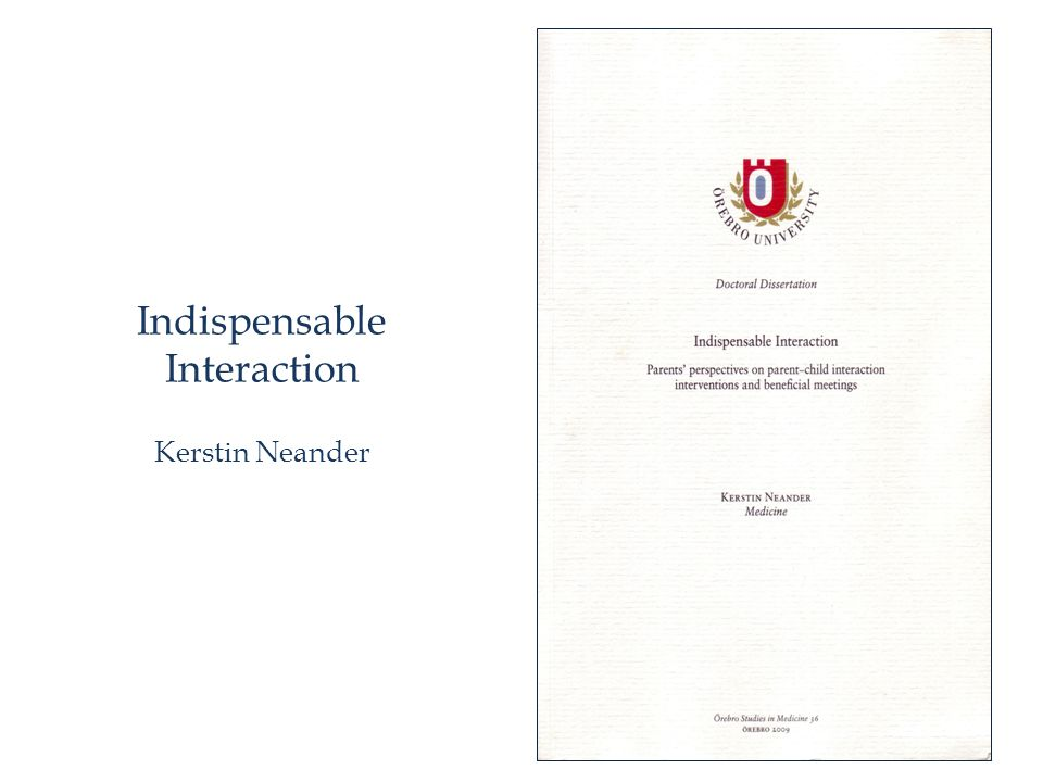 Indispensable Interaction Kerstin Neander