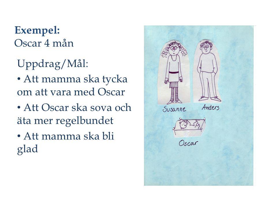 Exempel: Oscar 4 mån Uppdrag/Mål: