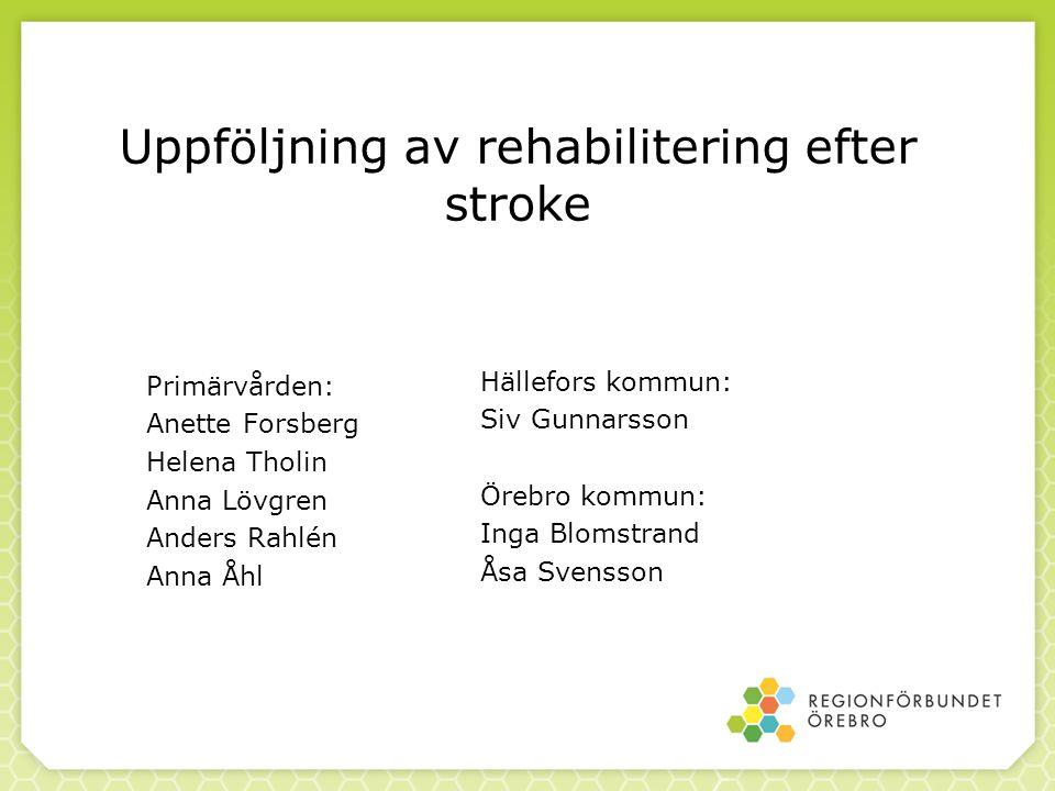 Uppföljning av rehabilitering efter stroke