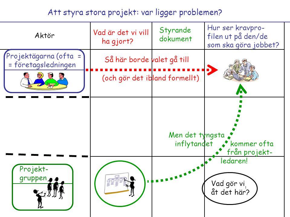 Att styra stora projekt: var ligger problemen