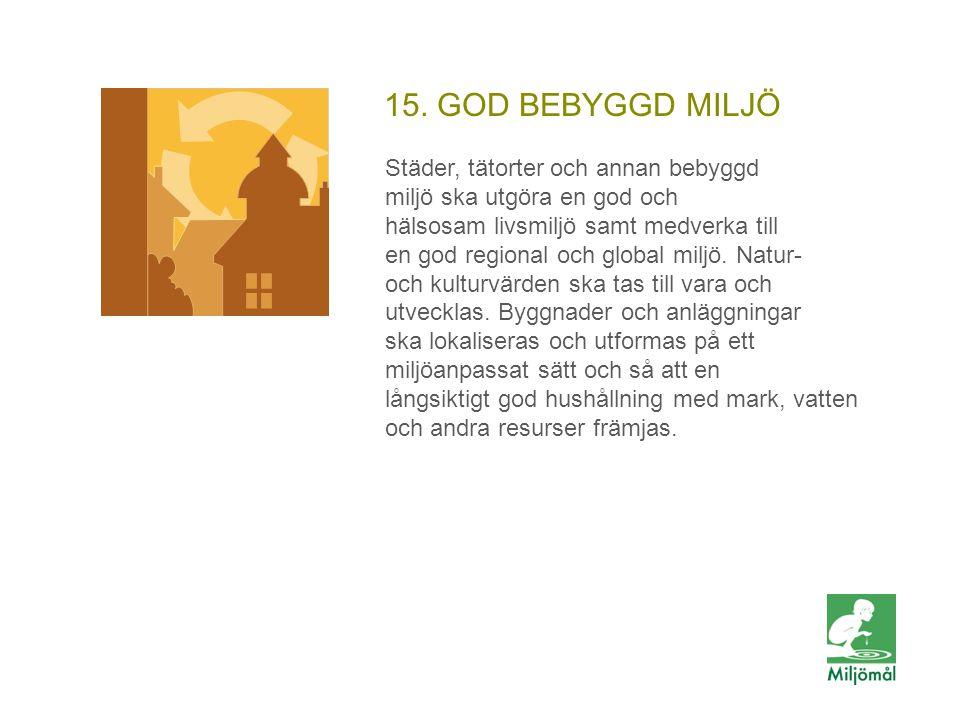 15. GOD BEBYGGD MILJÖ