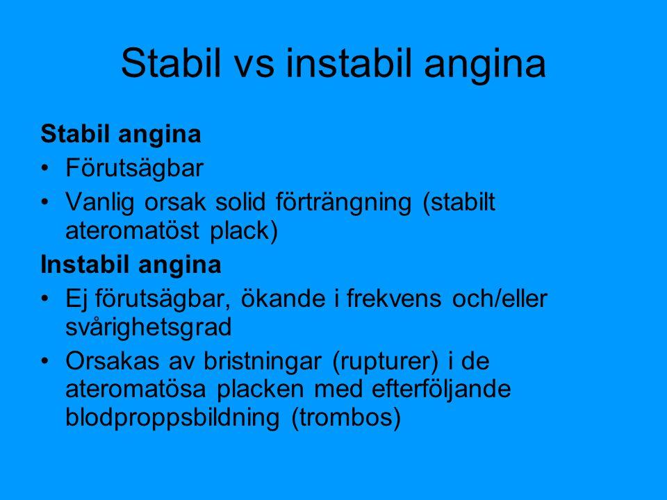 Stabil vs instabil angina