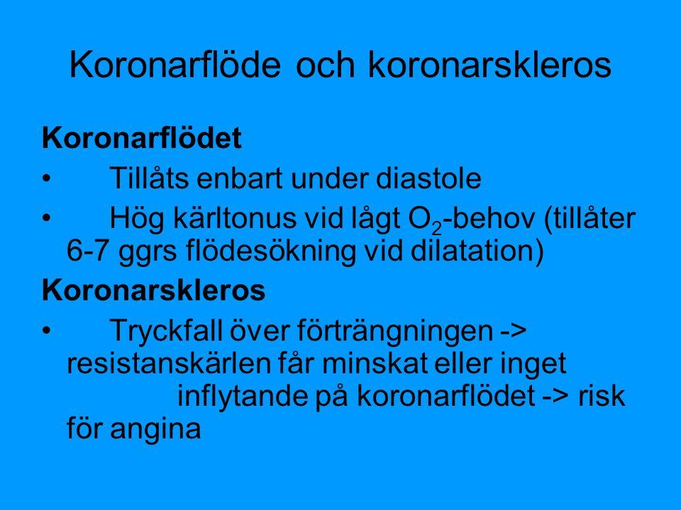 Koronarflöde och koronarskleros