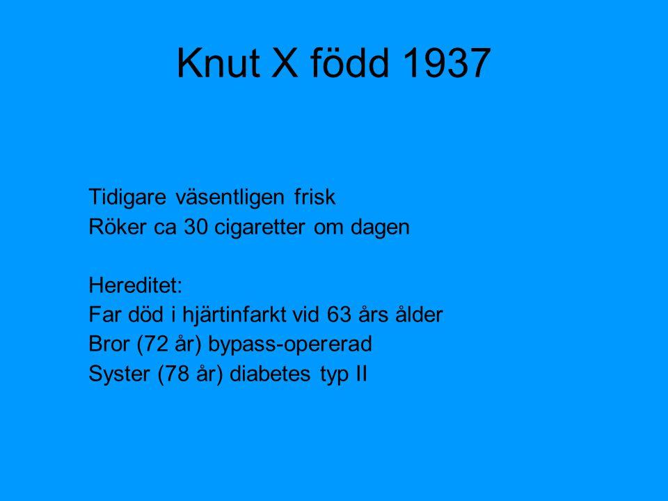 Knut X född 1937 Tidigare väsentligen frisk