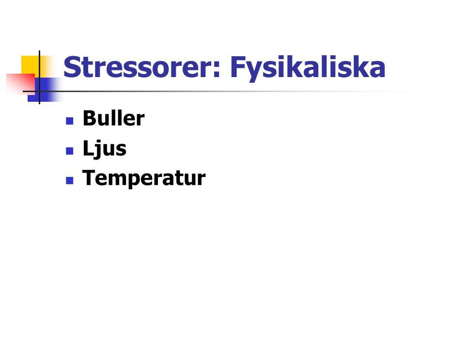 Stressorer: Fysikaliska