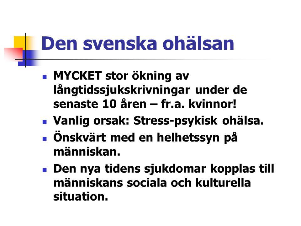 Den svenska ohälsan MYCKET stor ökning av långtidssjukskrivningar under de senaste 10 åren – fr.a. kvinnor!