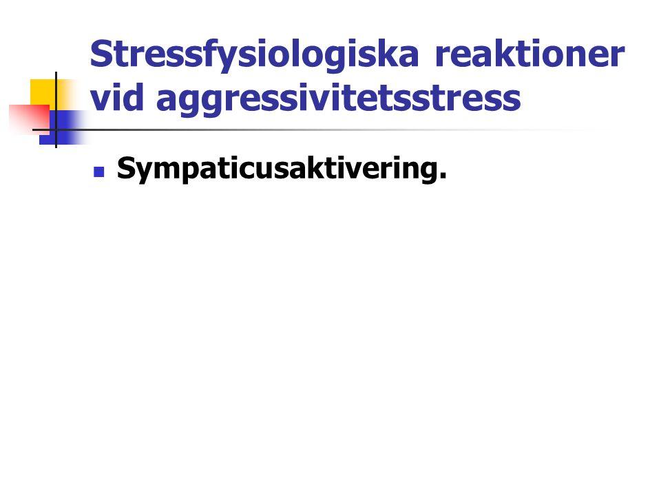 Stressfysiologiska reaktioner vid aggressivitetsstress