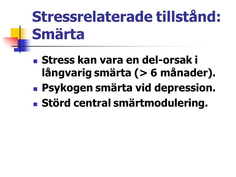 Stressrelaterade tillstånd: Smärta