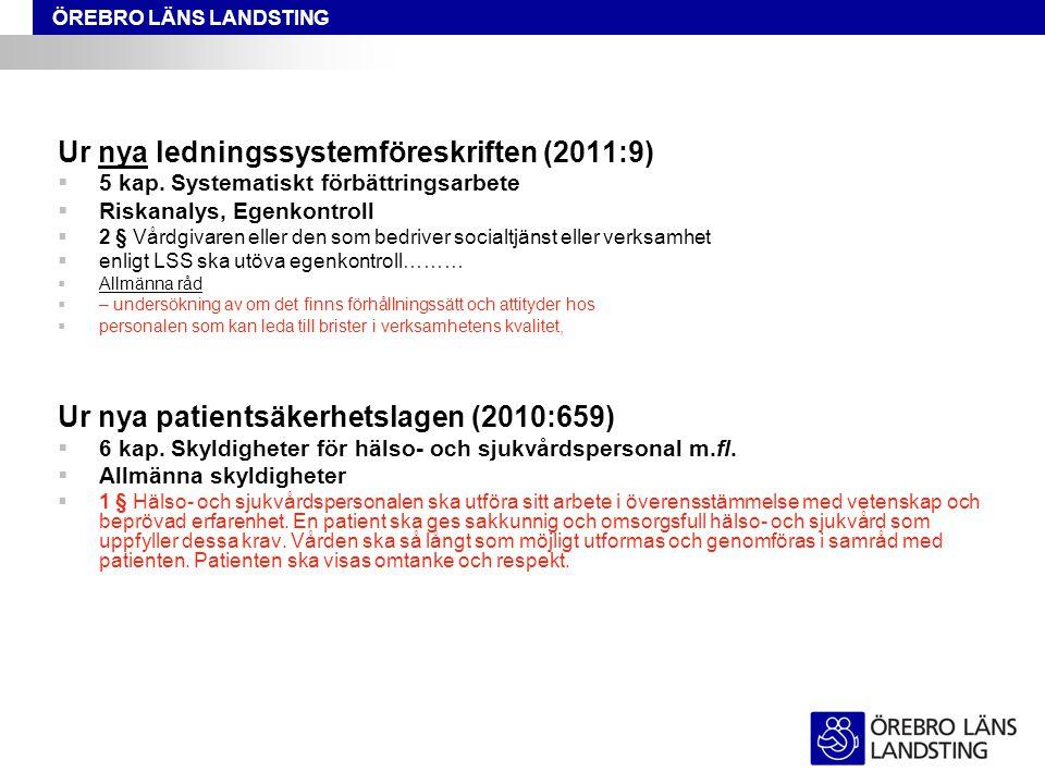 Ur nya ledningssystemföreskriften (2011:9)