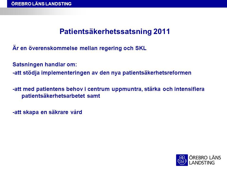 Patientsäkerhetssatsning 2011