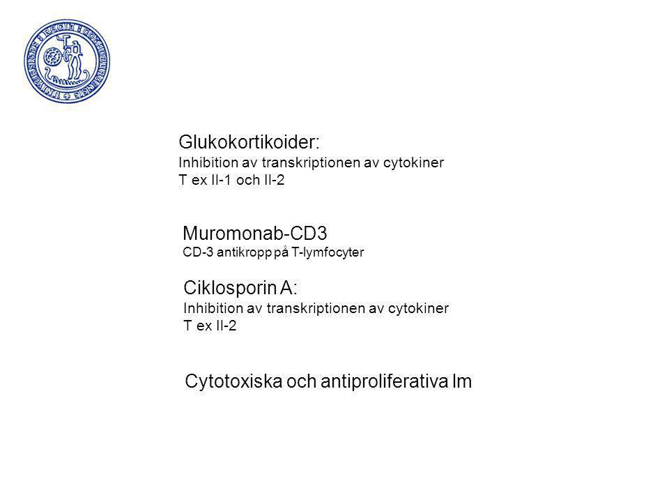 Cytotoxiska och antiproliferativa lm