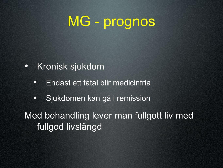 MG - prognos Kronisk sjukdom