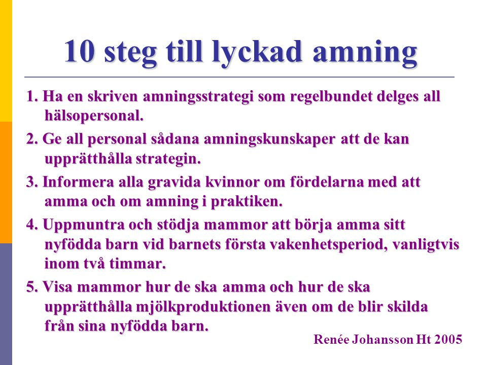 10 steg till lyckad amning