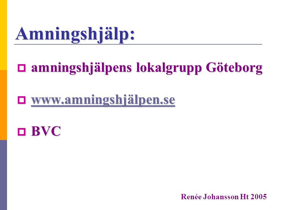 Amningshjälp: amningshjälpens lokalgrupp Göteborg
