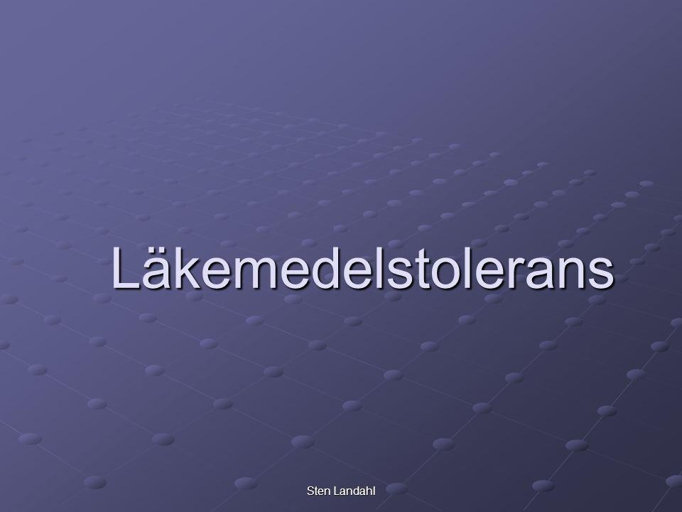 Läkemedelstolerans Sten Landahl