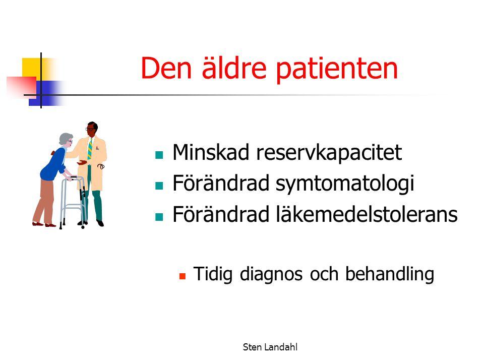 Den äldre patienten Minskad reservkapacitet Förändrad symtomatologi