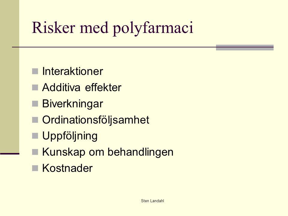 Risker med polyfarmaci
