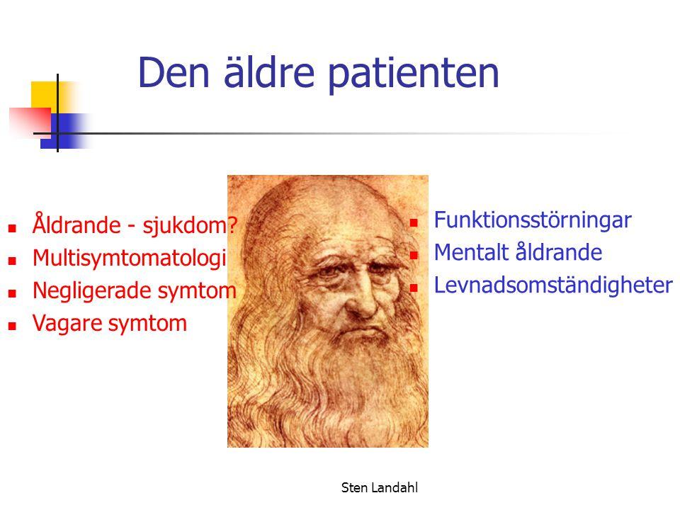Den äldre patienten Funktionsstörningar Åldrande - sjukdom