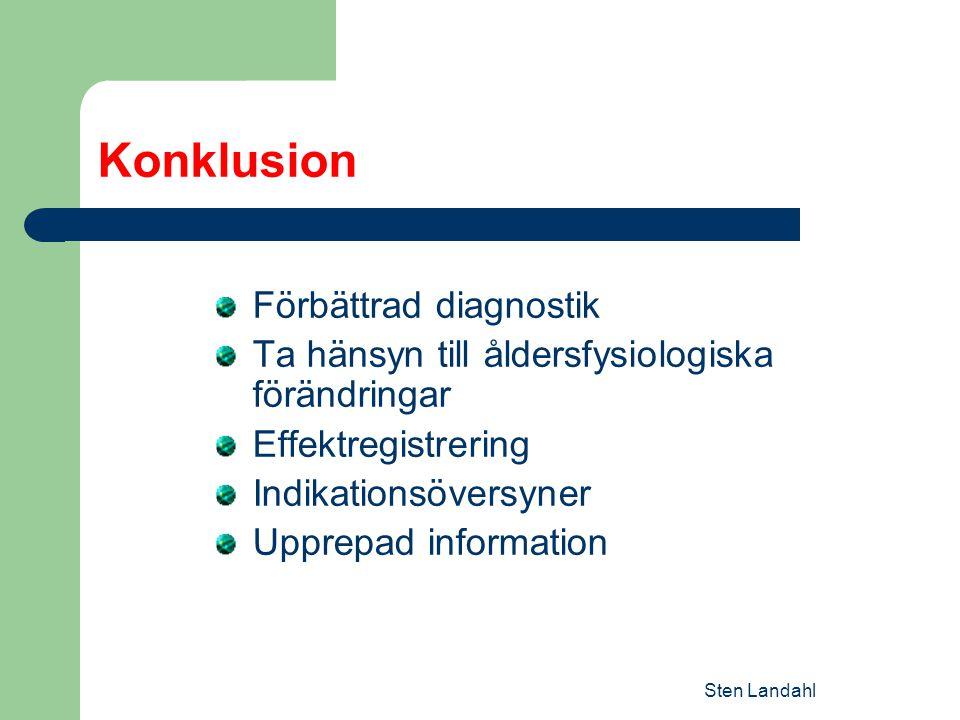 Konklusion Förbättrad diagnostik