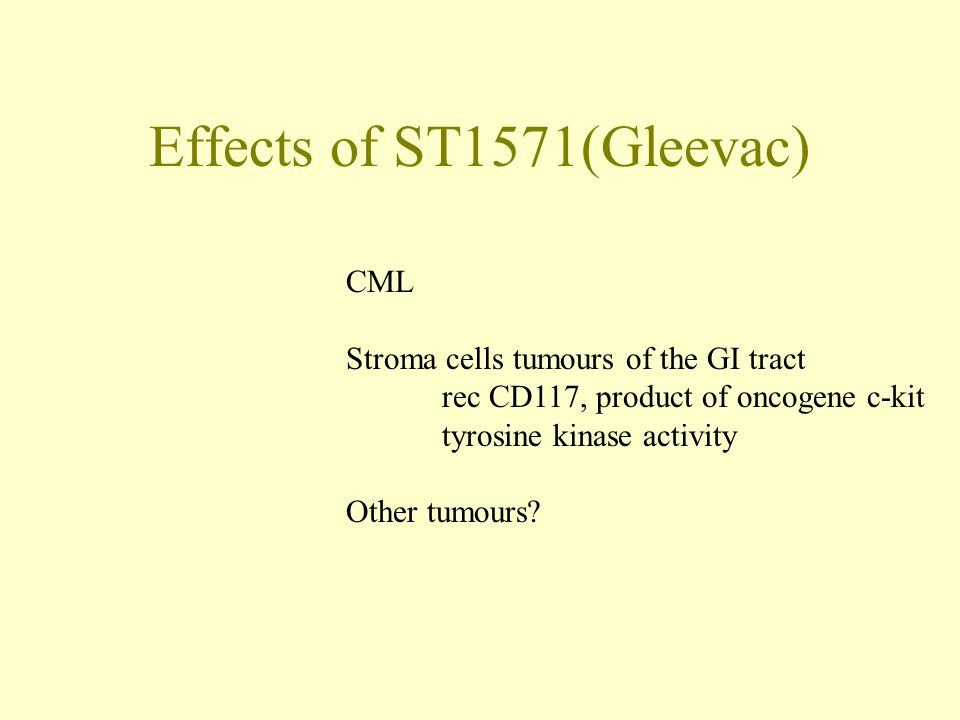 Effects of ST1571(Gleevac)