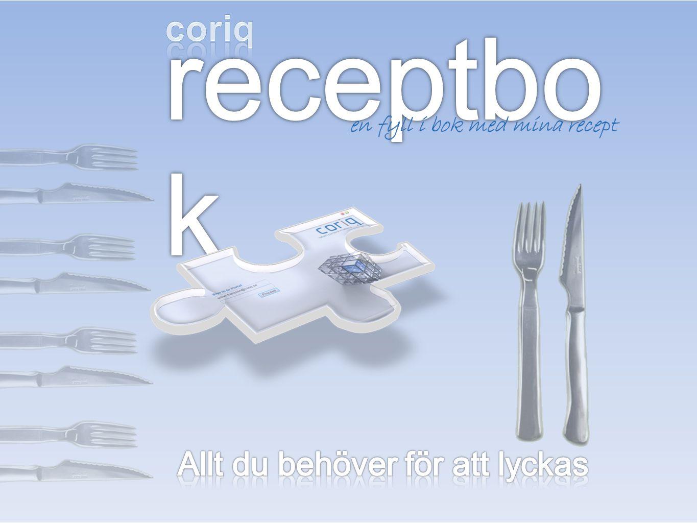receptbok coriq Allt du behöver för att lyckas