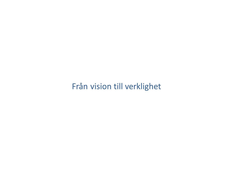 Från vision till verklighet