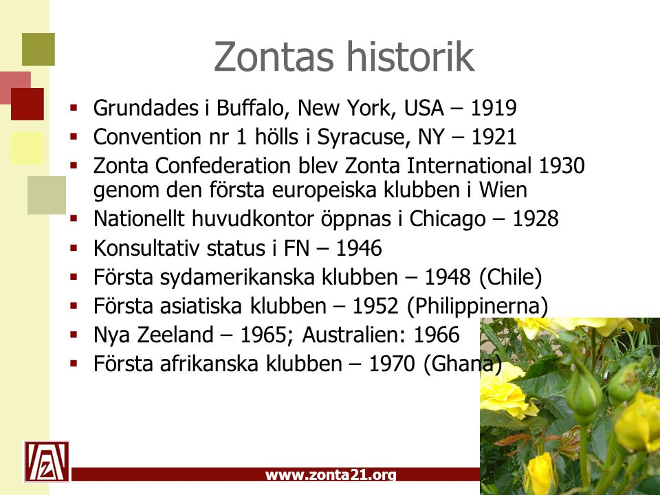 Zontas historik Grundades i Buffalo, New York, USA – 1919