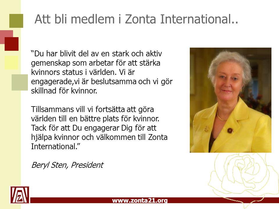 Att bli medlem i Zonta International..