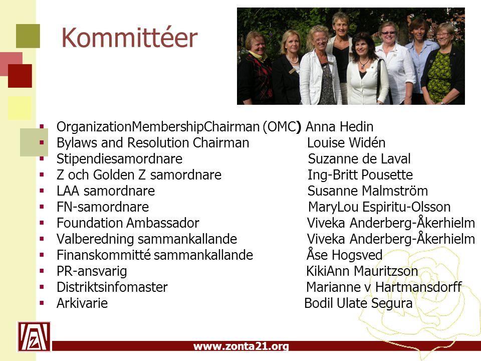 Kommittéer OrganizationMembershipChairman (OMC) Anna Hedin