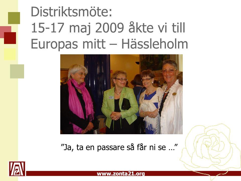 Distriktsmöte: 15-17 maj 2009 åkte vi till Europas mitt – Hässleholm