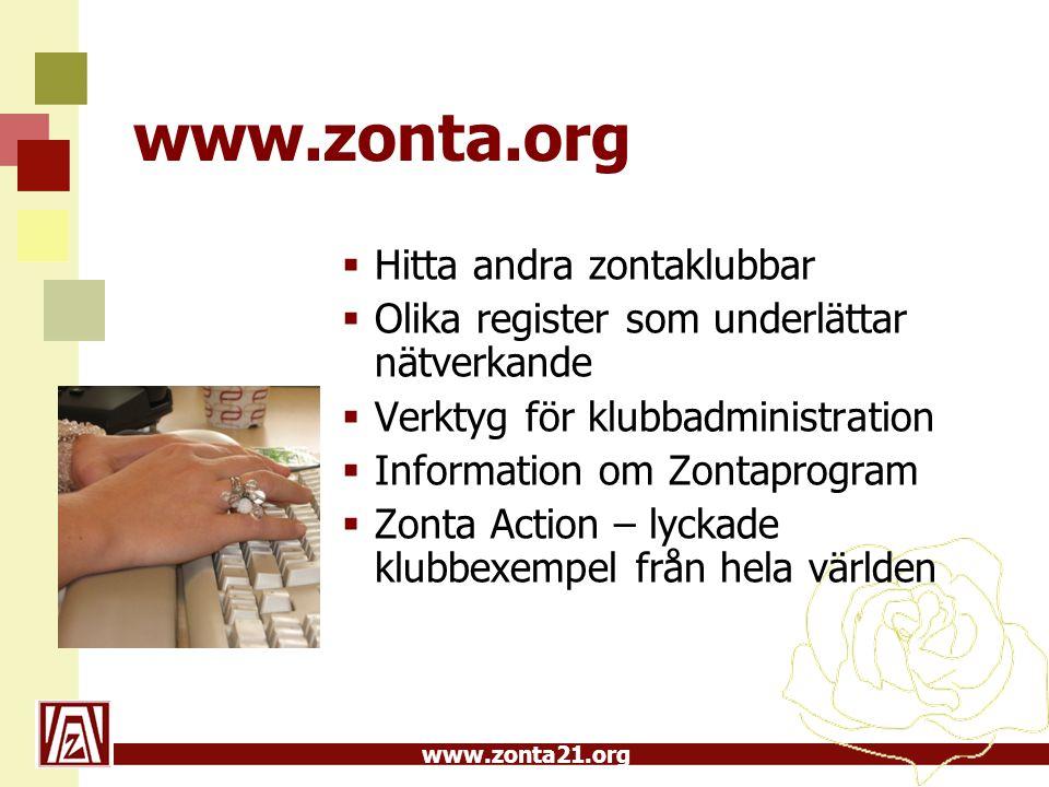 www.zonta.org Hitta andra zontaklubbar