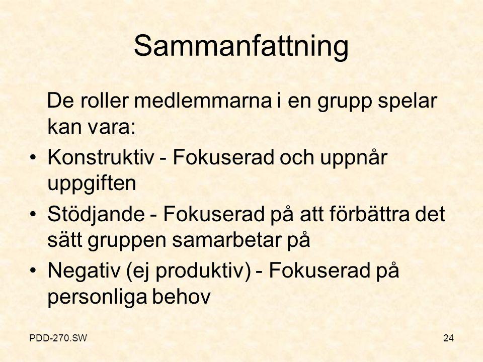 Gruppdynamik: Roller Är dynamiska - samarbete mellan gruppens medlemmar.