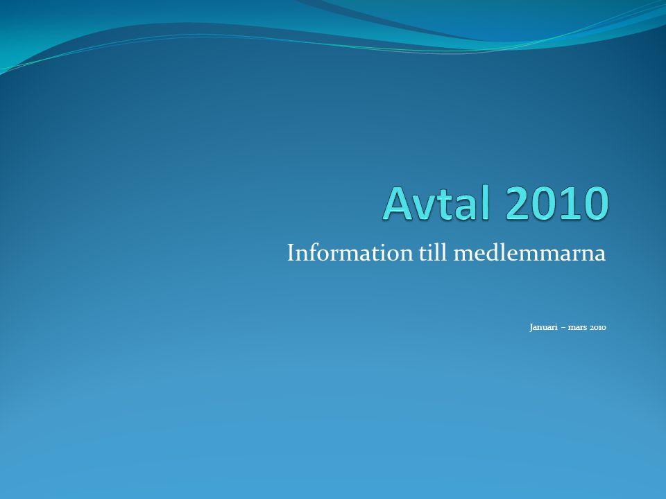 Information till medlemmarna Januari – mars 2010