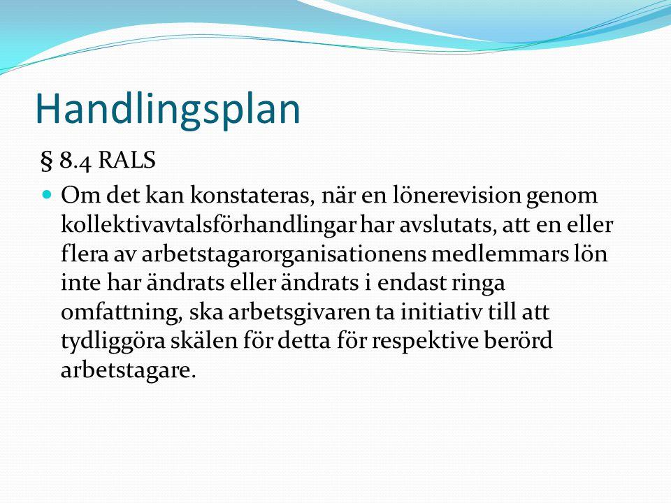 Handlingsplan § 8.4 RALS.