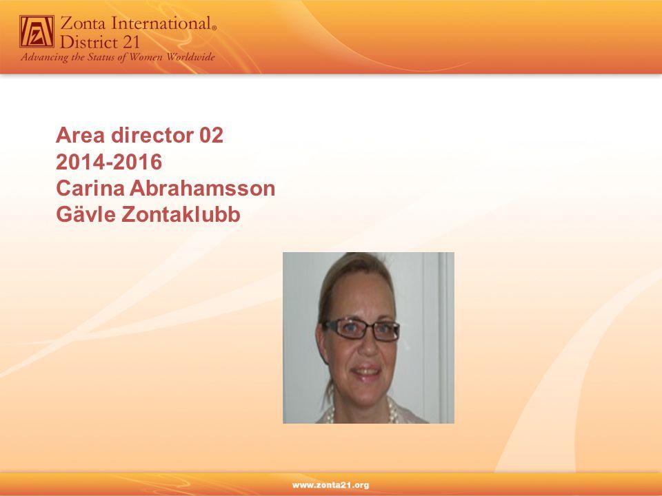 Area director 02 2014-2016 Carina Abrahamsson Gävle Zontaklubb