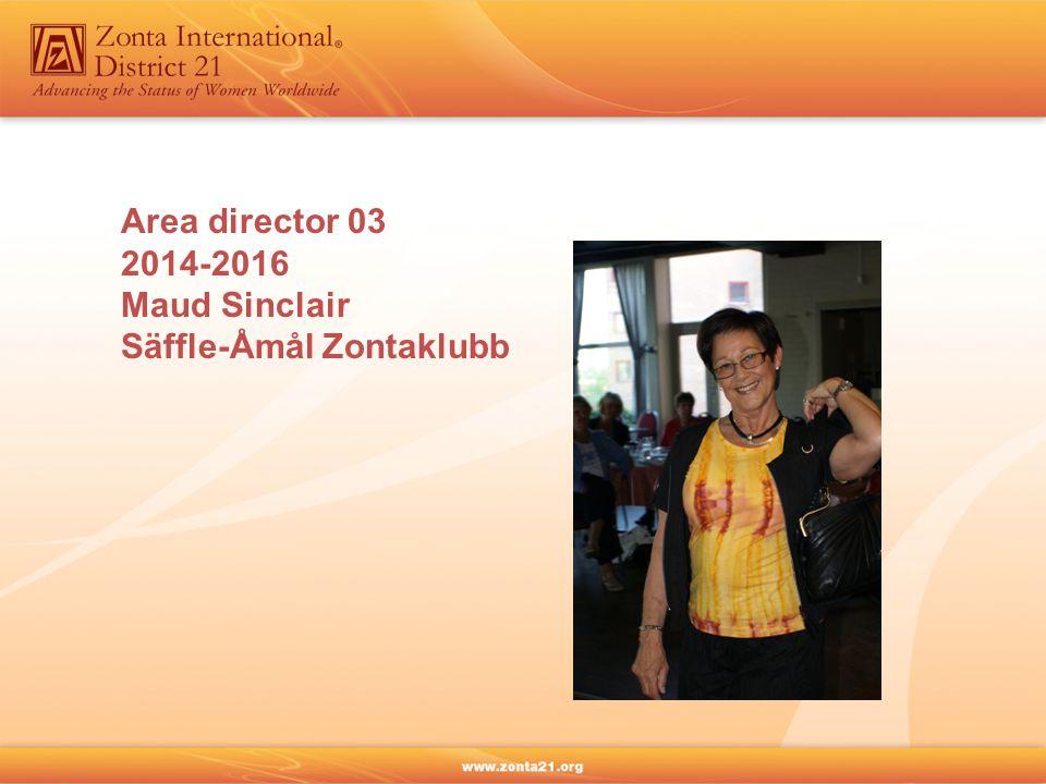 Area director 03 2014-2016 Maud Sinclair Säffle-Åmål Zontaklubb