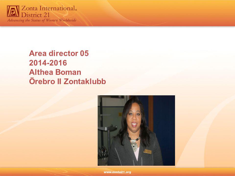 Area director 05 2014-2016 Althea Boman Örebro II Zontaklubb