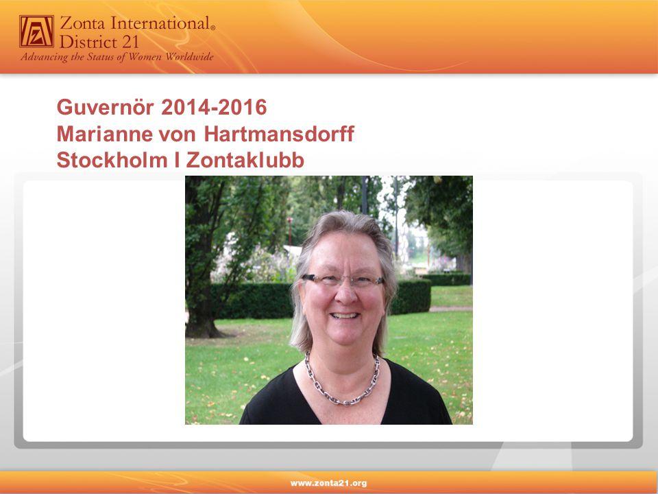 Guvernör 2014-2016 Marianne von Hartmansdorff Stockholm I Zontaklubb
