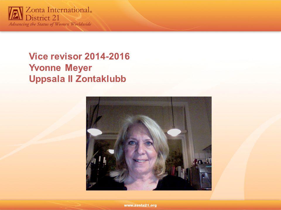 Vice revisor 2014-2016 Yvonne Meyer Uppsala II Zontaklubb