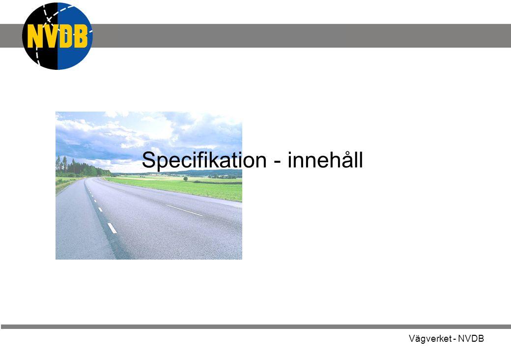 Specifikation - innehåll