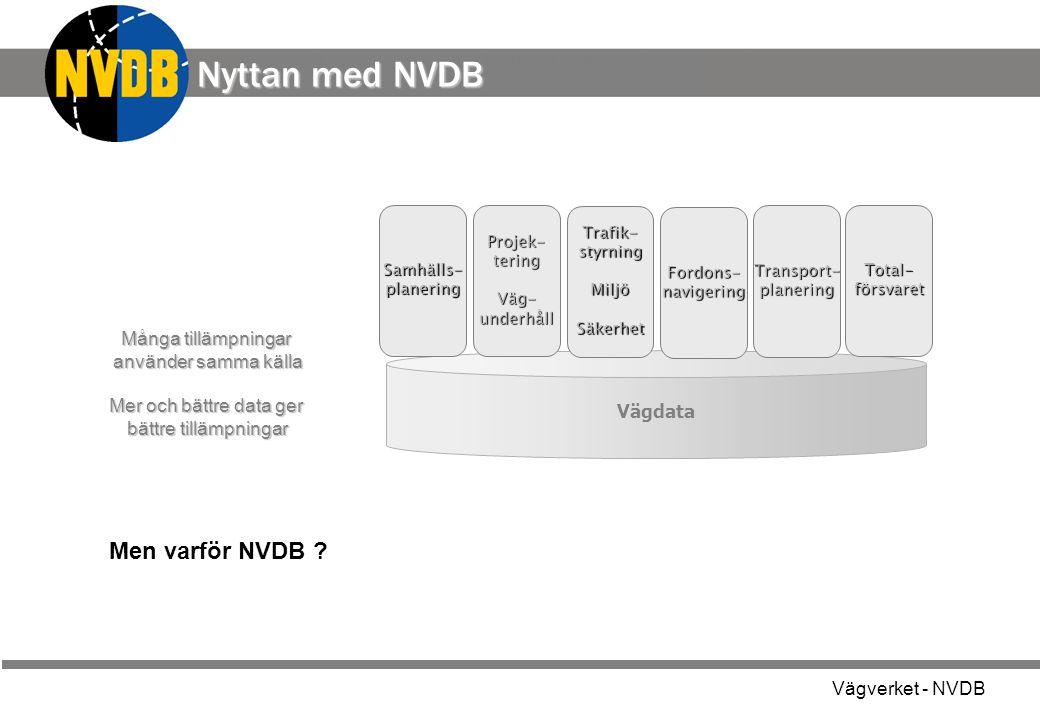 Nyttan med NVDB a Men varför NVDB